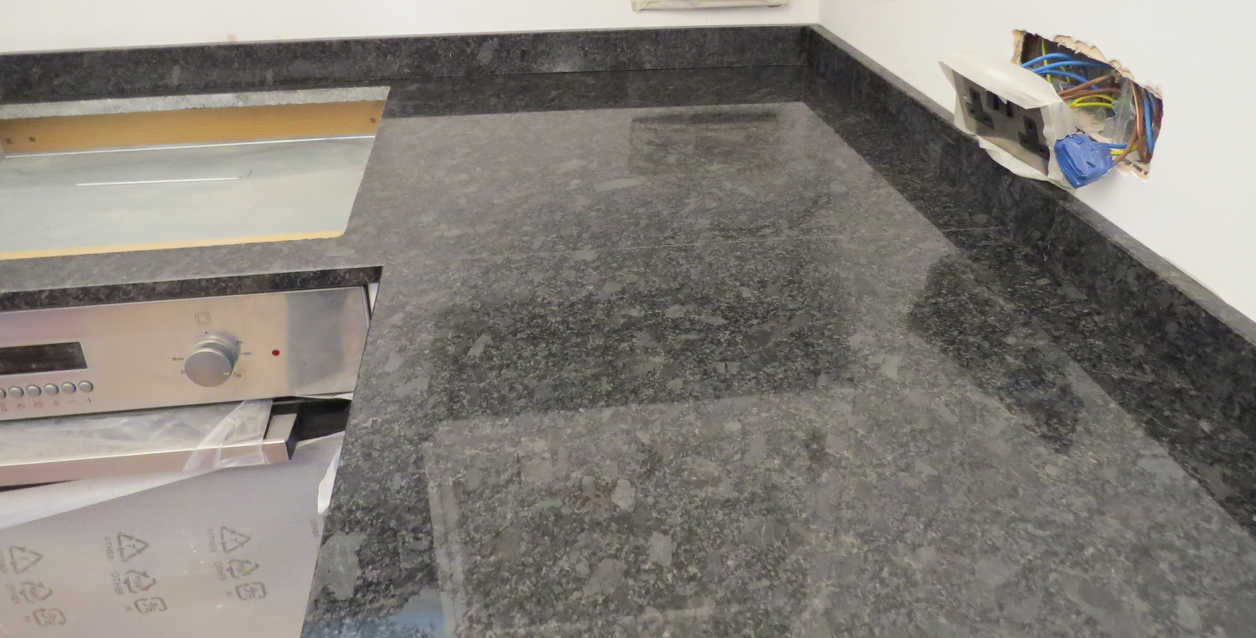 Steel Grey Granite Kitchen Countertops And Brazilian Black Slate Countertops Everything Stone