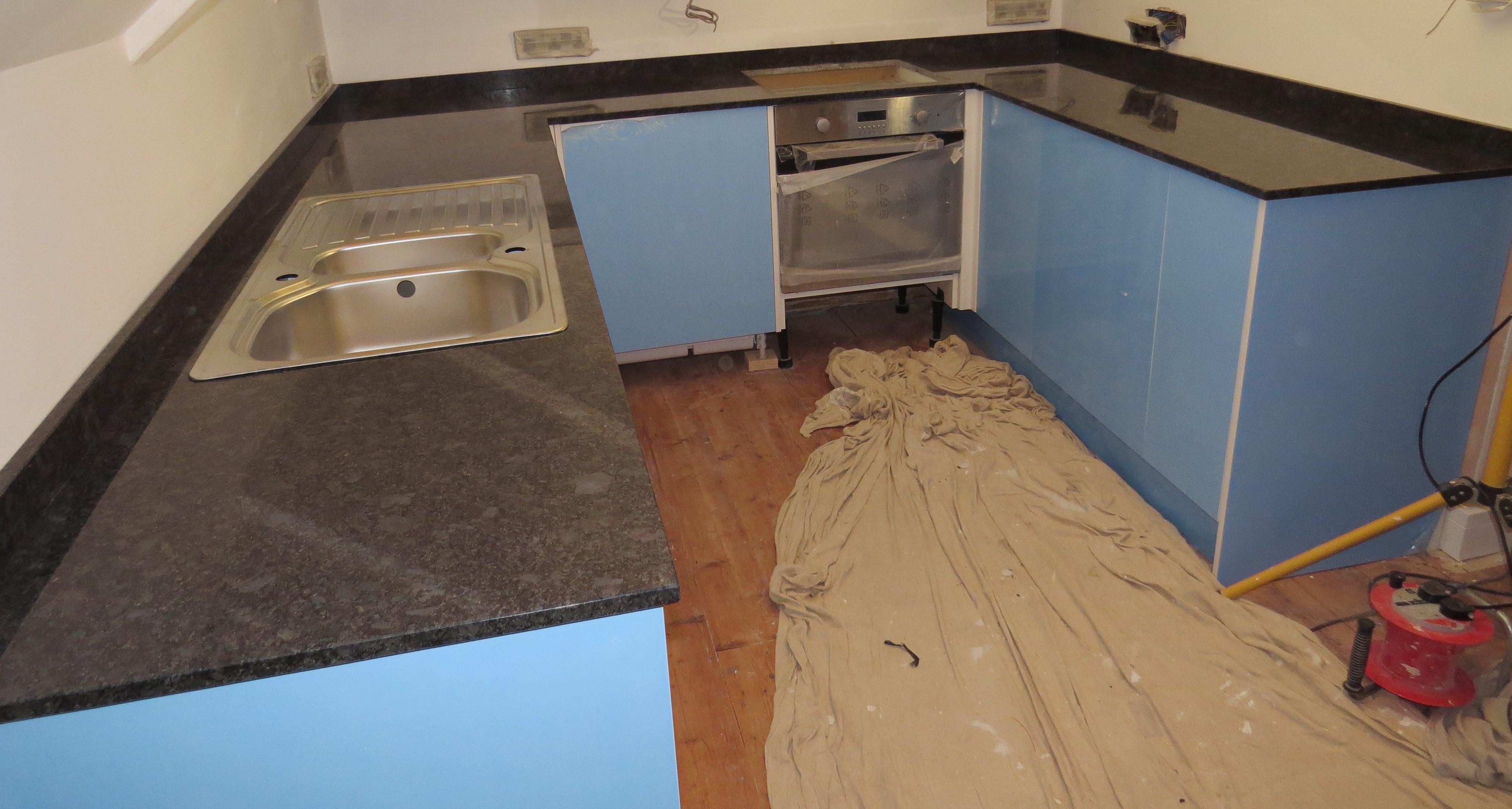 Steel Grey Granite Kitchen Countertops And Brazilian Black Slate Countertops Everything Stone