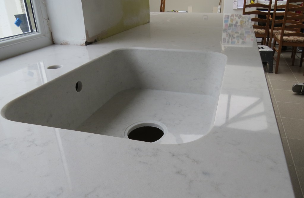 Quartz Kitchen Countertop And Integrity Sink Everything