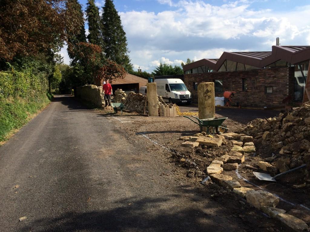 bathstone gate posts by everything stone