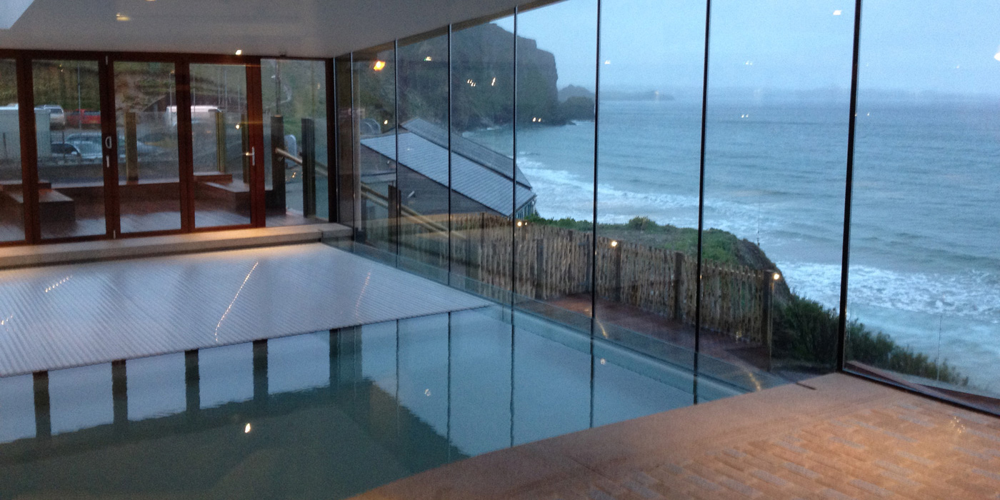 Everything Stone carrying our hard landscaping works at Newquay in Cornwall