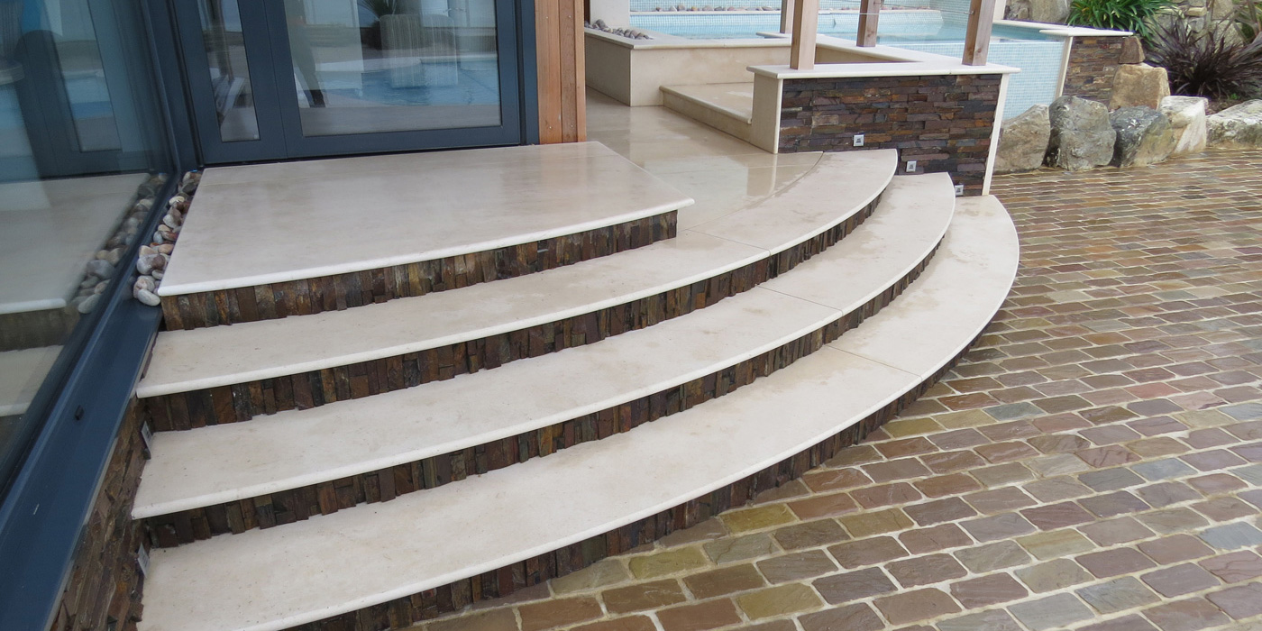 Everything Stone carrying our hard landscaping works at St Ives in Cornwall