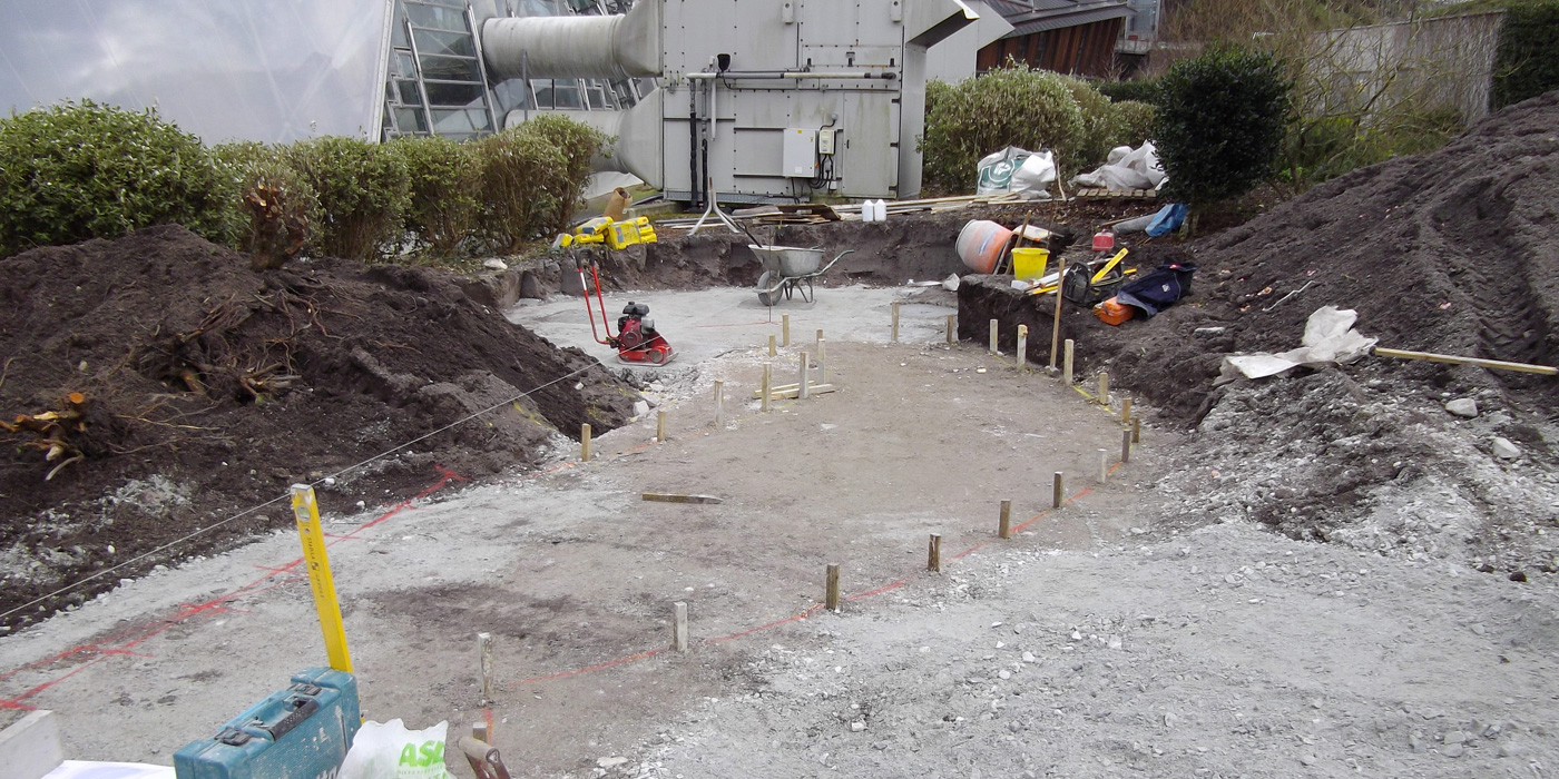 Everything Stone setting out for granite reels at the Eden Project in Cornwall