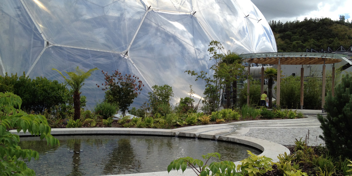 feature graden installed at the Eden project by Everything Stone
