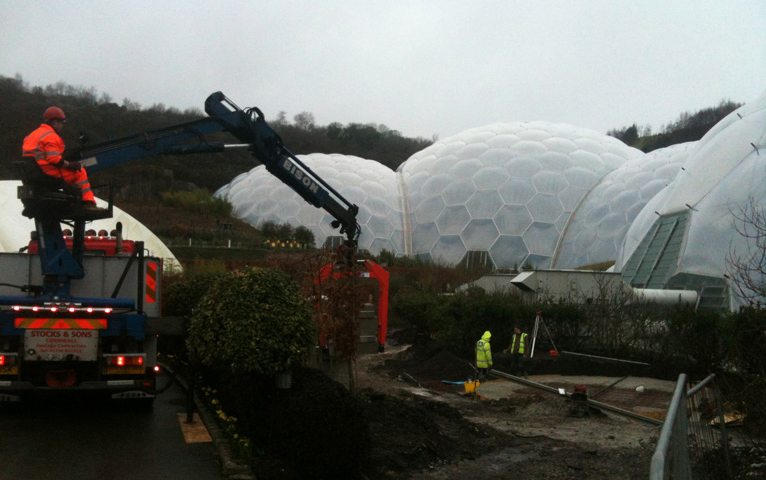 Everything Stone carrying our hard landscaping works at the Eden Project in Cornwall