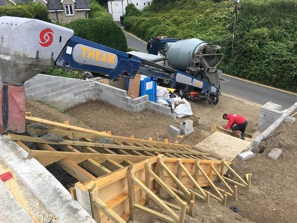 preparing to concrete a reinforced concrete staircase