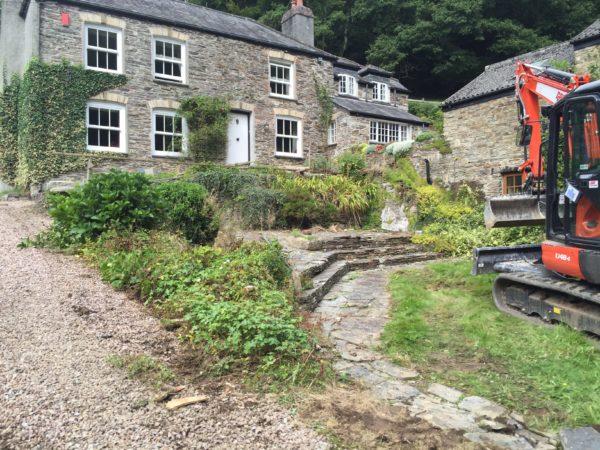 landscaping in Liskeard in Cornwall