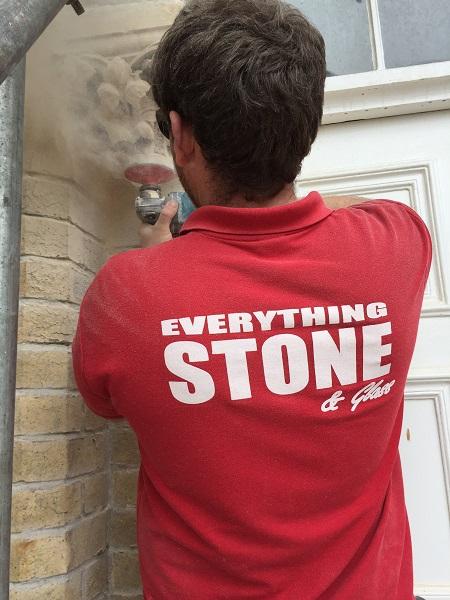 Alex is preparing to install two new Bath stone columns