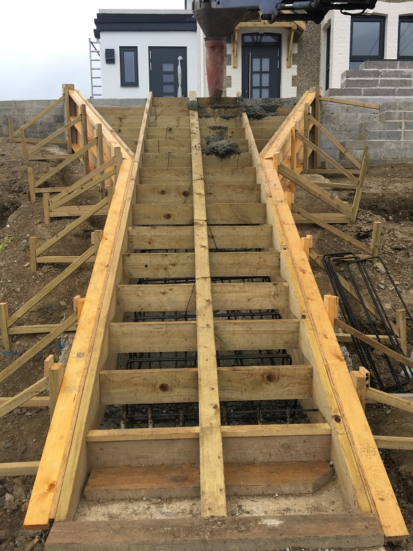 shuttering for reinforced concrete staircase by everything stone
