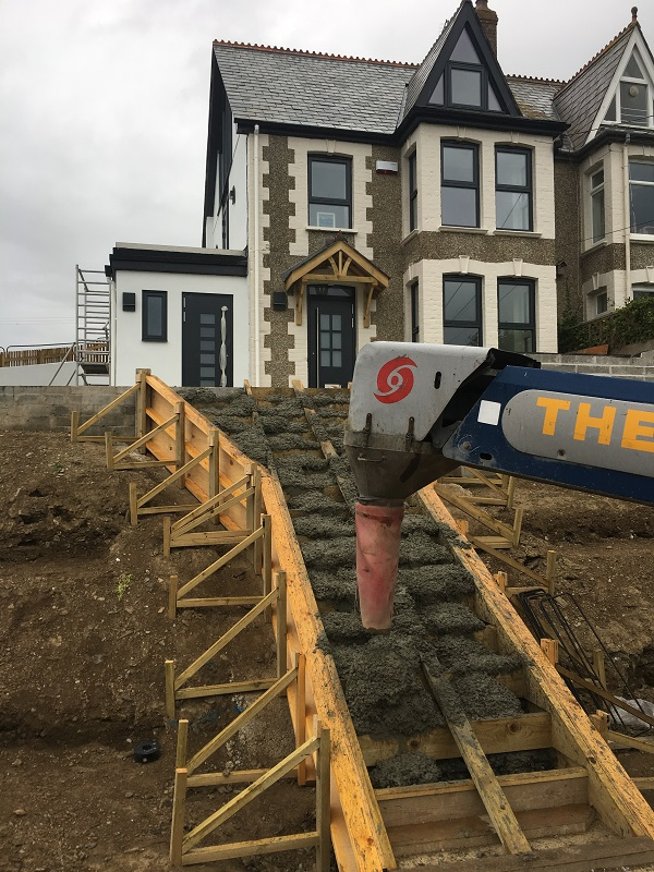 reinforced concrete staircase by everything stone in cornwall