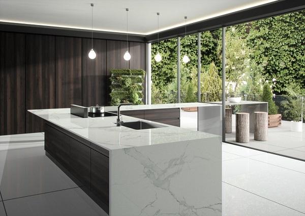 Silestone quartz kitchen worktops - cost of granite worktops versus cost of quartz worktops