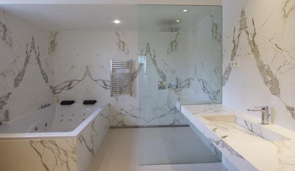 Cosentino's dekton bathroom - cost of granite worktops versus cost of quartz worktops