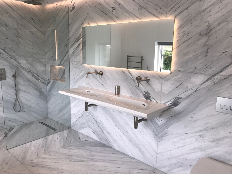 marble bathrooms by Everything Stone