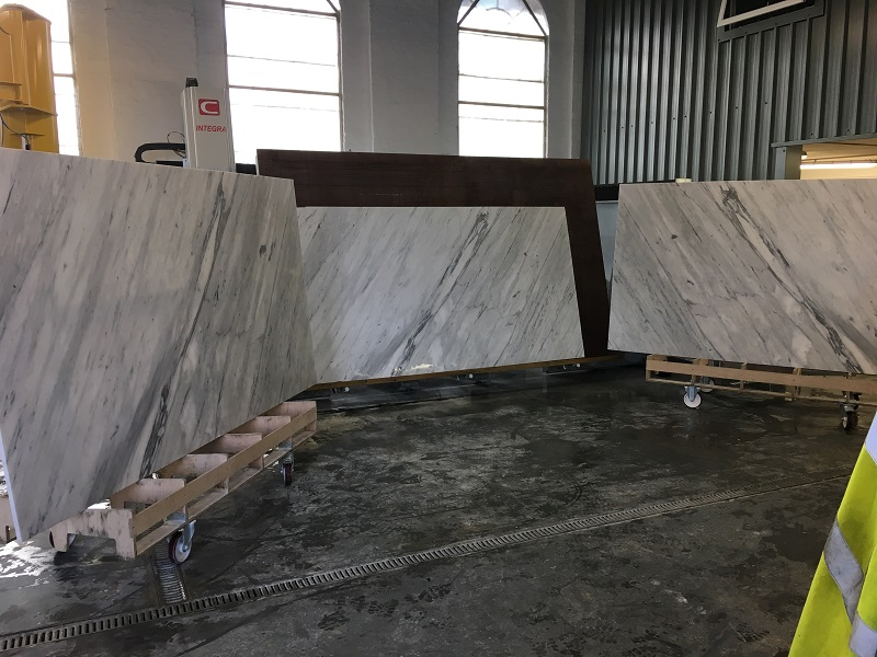 carrara marble slabs for marble bathrooms by Everything Stone