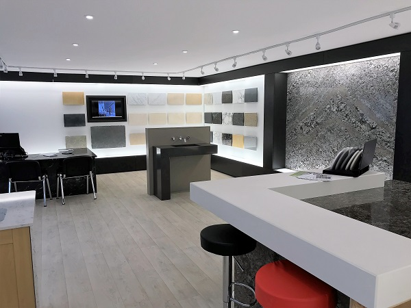 book matching granite & marble at Everything Stone showroom in Par, Cornwall
