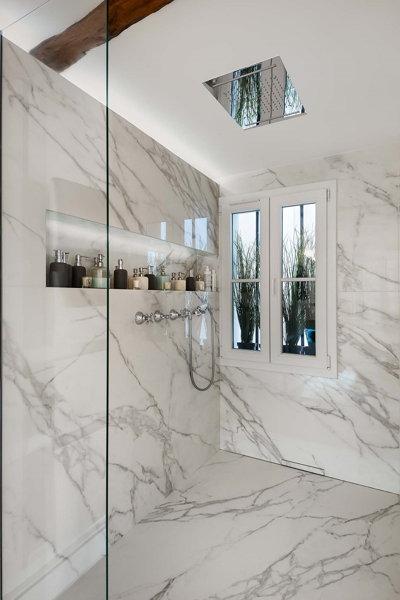 Neolith wall cladding in Cornwall by everything Stone