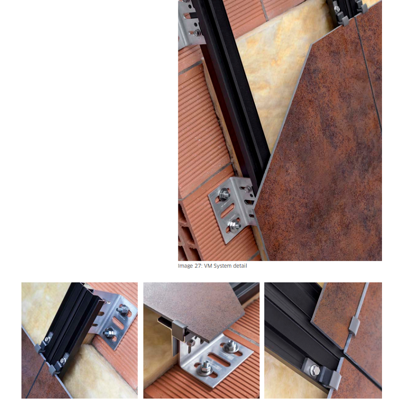 bracket & rail system for stone wall cladding - Everything Stone