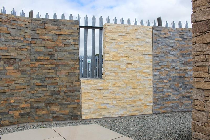 stone wall cladding displays in Par