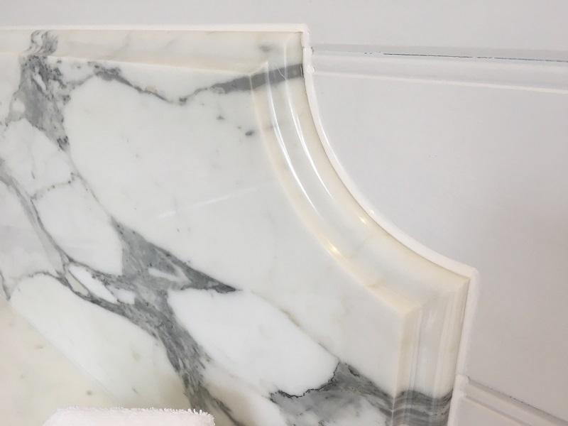 marble splash back by everything stone