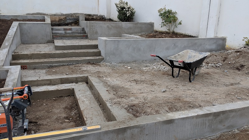 Preparing a patio by Everything Stone