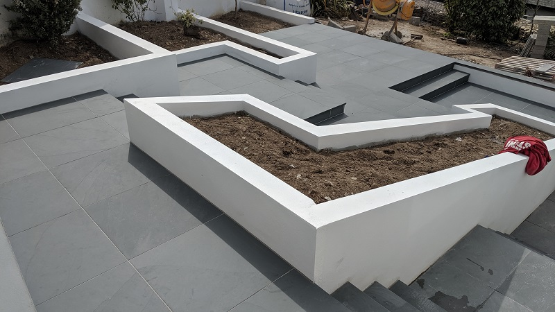 installing slate paving by Everything Stone