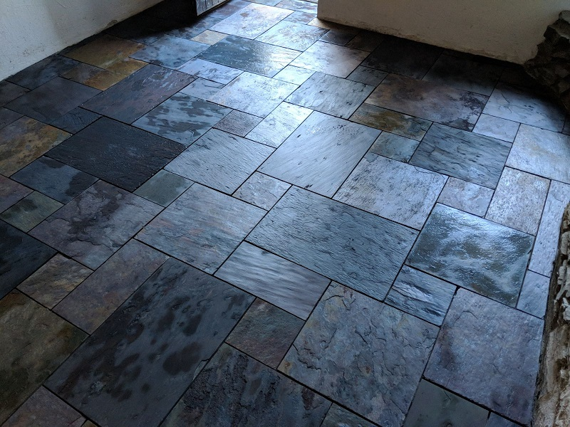 multi colour slate tiles by Everything Stone