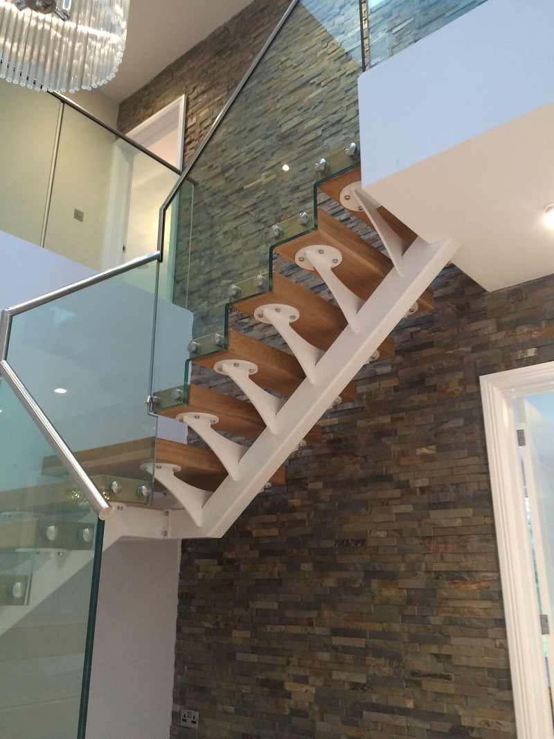 Slate tiles on a stairwell by Everything Stone