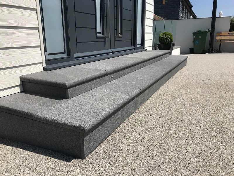 Basalt steps by Everything Stone