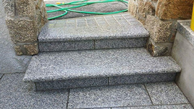 Granite steps to accompany Everything Stones Basalt steps range
