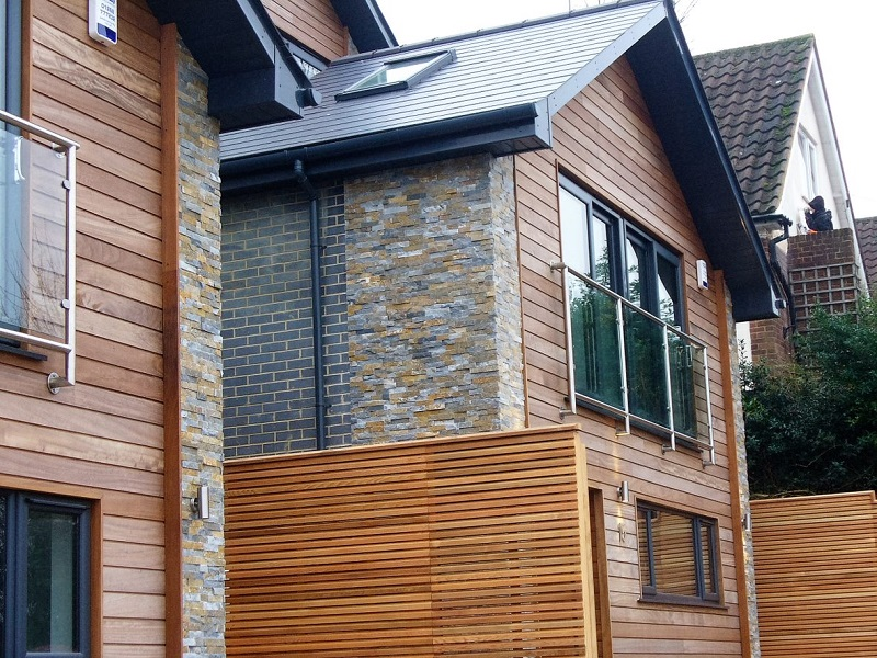Autumn Slate Wall Cladding by Everything Stone