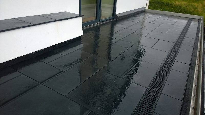 black limestone paving by Everything Stone