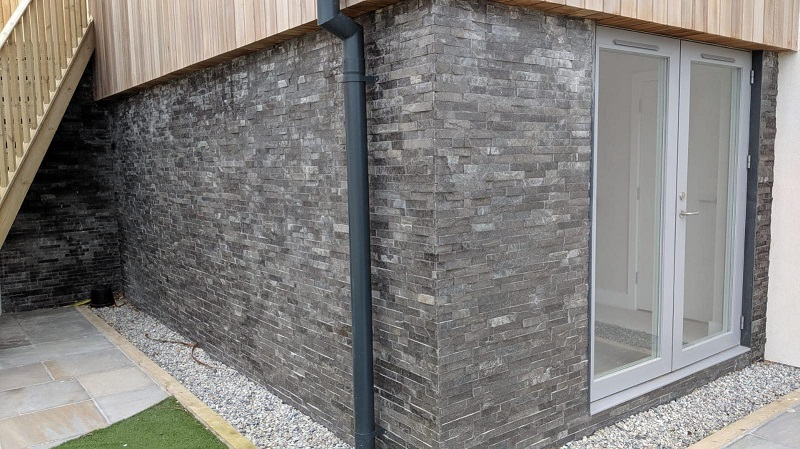 charcoal wall cladding tiles by Everything Stone