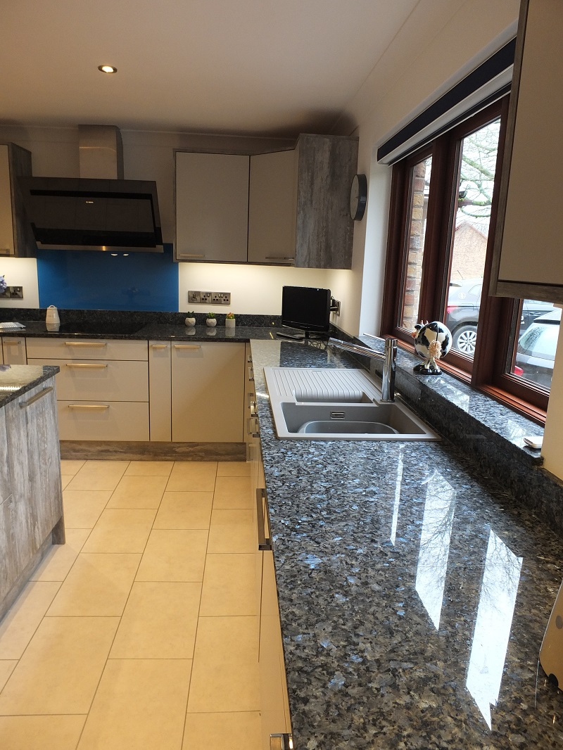 Blue Pearl granite worktops by Everything Stone